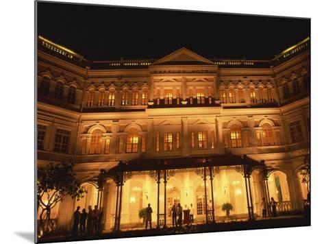 Facade of the Raffles Hotel at Night in Singapore, Southeast Asia-Steve Bavister-Mounted Photographic Print