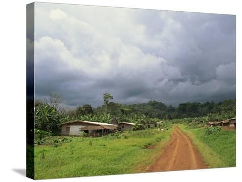 Typical Village in Western Cameroon, Africa-Julia Bayne-Stretched Canvas Print