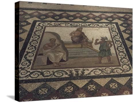 Mosaic Floor from a Roman House, Kos Museum, Dodecanese Islands, Greek Islands, Greece-David Beatty-Stretched Canvas Print
