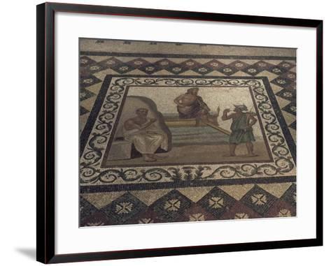 Mosaic Floor from a Roman House, Kos Museum, Dodecanese Islands, Greek Islands, Greece-David Beatty-Framed Art Print