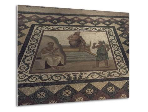 Mosaic Floor from a Roman House, Kos Museum, Dodecanese Islands, Greek Islands, Greece-David Beatty-Metal Print