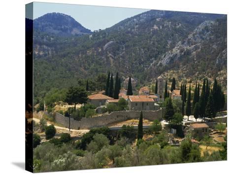 Nea Moi Monastery, Chios, North Aegean Islands, Greek Islands, Greece, Europe-David Beatty-Stretched Canvas Print