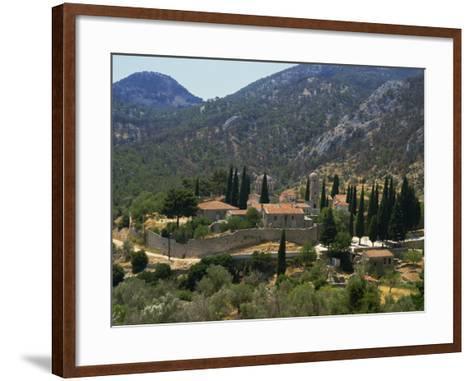 Nea Moi Monastery, Chios, North Aegean Islands, Greek Islands, Greece, Europe-David Beatty-Framed Art Print