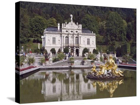 Schloss Linderhof in the Graswang Valley, Built Between 1870 and 1878 for King Ludwig II, Germany-Nigel Blythe-Stretched Canvas Print