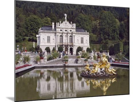 Schloss Linderhof in the Graswang Valley, Built Between 1870 and 1878 for King Ludwig II, Germany-Nigel Blythe-Mounted Photographic Print