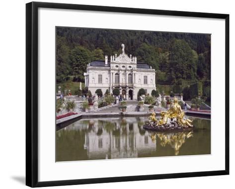 Schloss Linderhof in the Graswang Valley, Built Between 1870 and 1878 for King Ludwig II, Germany-Nigel Blythe-Framed Art Print