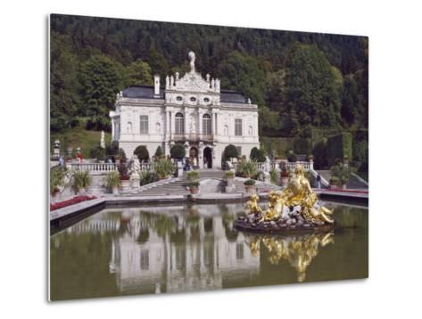 Schloss Linderhof in the Graswang Valley, Built Between 1870 and 1878 for King Ludwig II, Germany-Nigel Blythe-Metal Print
