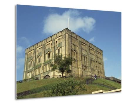 Norwich Castle, Norwich, Norfolk, England, United Kingdom, Europe-Charcrit Boonsom-Metal Print