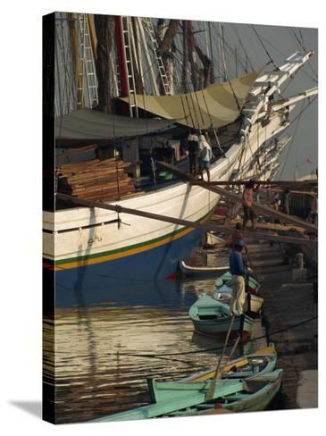 Old Port,, Jakarta, Java, Indonesia, Southeast Asia-Charles Bowman-Stretched Canvas Print