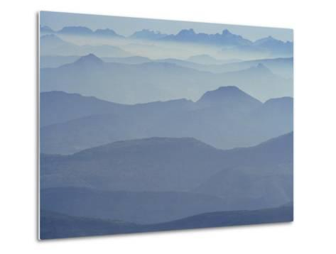 View from Mount Ventoux Looking Towards the Alps, Rhone Alpes, France, Europe-Charles Bowman-Metal Print