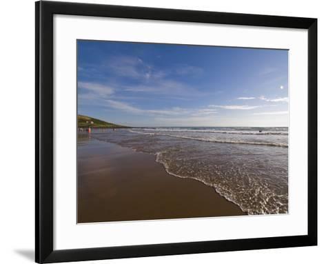 Croyde Bay, North Devon, Devon, England, United Kingdom, Europe-Charles Bowman-Framed Art Print
