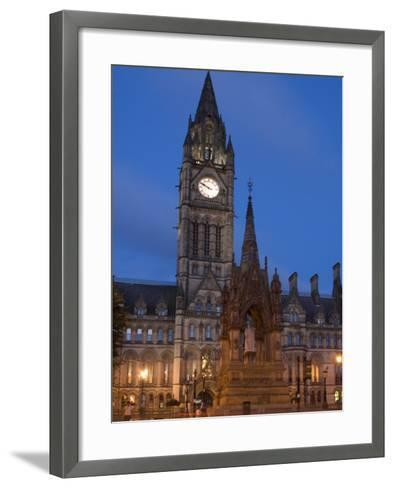 Town Hall, Manchester, England, United Kingdom, Europe-Charles Bowman-Framed Art Print