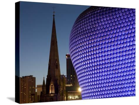 Selfridges and St. Martin's Church at Dusk, Birmingham, England, United Kingdom, Europe-Charles Bowman-Stretched Canvas Print