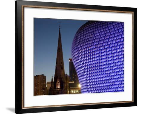 Selfridges and St. Martin's Church at Dusk, Birmingham, England, United Kingdom, Europe-Charles Bowman-Framed Art Print