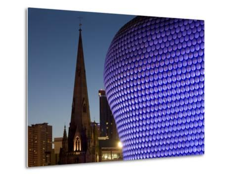 Selfridges and St. Martin's Church at Dusk, Birmingham, England, United Kingdom, Europe-Charles Bowman-Metal Print