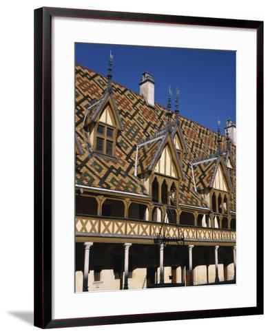 Verandahs and Roof of the Hospices De Beaune on the Cote D'Or, Bourgogne, France, Europe-Charles Bowman-Framed Art Print