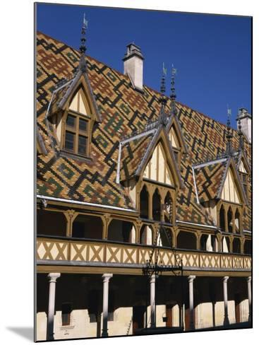 Verandahs and Roof of the Hospices De Beaune on the Cote D'Or, Bourgogne, France, Europe-Charles Bowman-Mounted Photographic Print