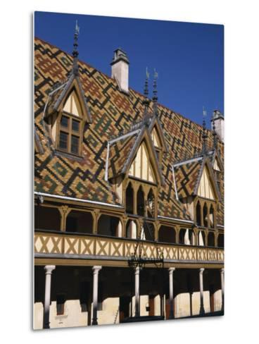 Verandahs and Roof of the Hospices De Beaune on the Cote D'Or, Bourgogne, France, Europe-Charles Bowman-Metal Print