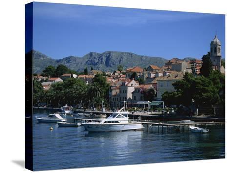 Cavtat Harbour, Dalmatia, Croatia, Europe-Nelly Boyd-Stretched Canvas Print