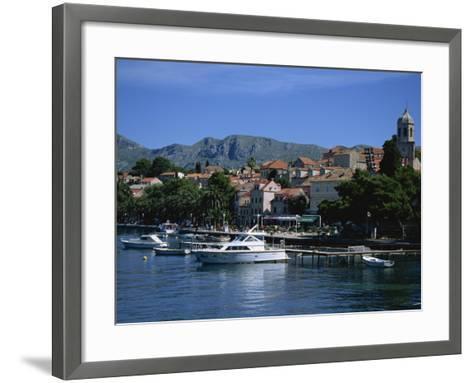 Cavtat Harbour, Dalmatia, Croatia, Europe-Nelly Boyd-Framed Art Print