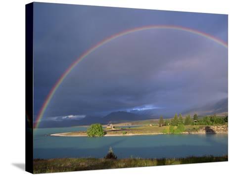 Rainbow over Lake Tekapo, Canterbury, South Island, New Zealand, Pacific-Jeremy Bright-Stretched Canvas Print