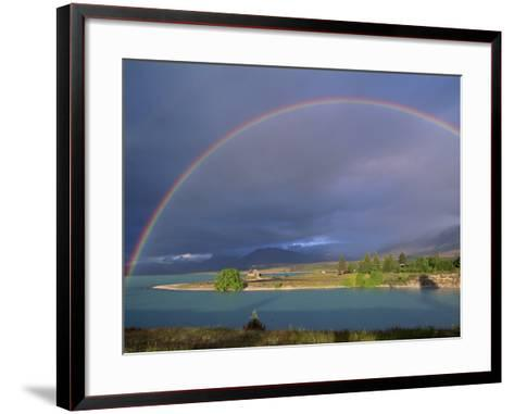 Rainbow over Lake Tekapo, Canterbury, South Island, New Zealand, Pacific-Jeremy Bright-Framed Art Print