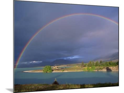 Rainbow over Lake Tekapo, Canterbury, South Island, New Zealand, Pacific-Jeremy Bright-Mounted Photographic Print