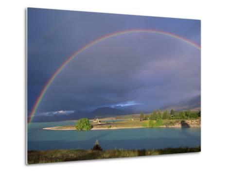 Rainbow over Lake Tekapo, Canterbury, South Island, New Zealand, Pacific-Jeremy Bright-Metal Print