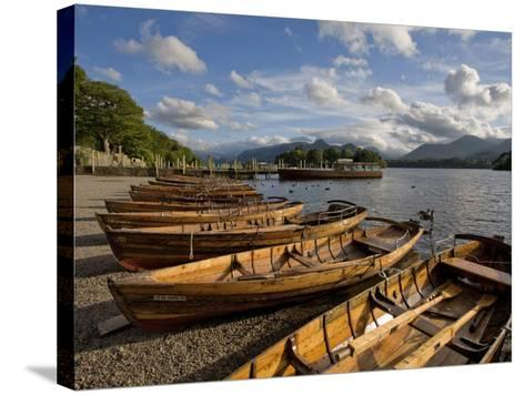 Boats Moored at Derwentwater, Lake District National Park, Cumbria, England, United Kingdom, Europe-Jean Brooks-Stretched Canvas Print