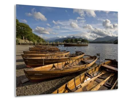 Boats Moored at Derwentwater, Lake District National Park, Cumbria, England, United Kingdom, Europe-Jean Brooks-Metal Print