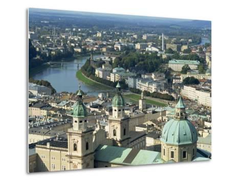 City View from the Fortress, Salzburg, Austria, Europe-Jean Brooks-Metal Print