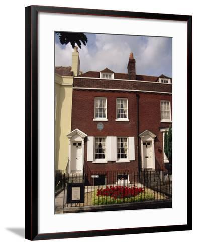 Birthplace of Charles Dickens, Portsmouth, Hampshire, England, United Kingdom, Europe-Jean Brooks-Framed Art Print