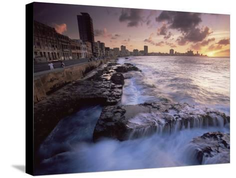 Malecon, Havana, Cuba, West Indies, Central America-Colin Brynn-Stretched Canvas Print