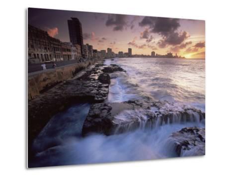 Malecon, Havana, Cuba, West Indies, Central America-Colin Brynn-Metal Print