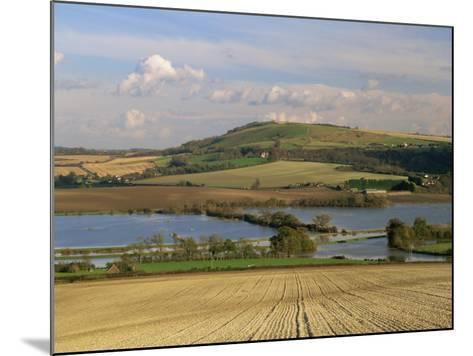 Arun Valley in Food, with South Downs Beyond, Bury, Sussex, England, United Kingdom, Europe-Pearl Bucknall-Mounted Photographic Print