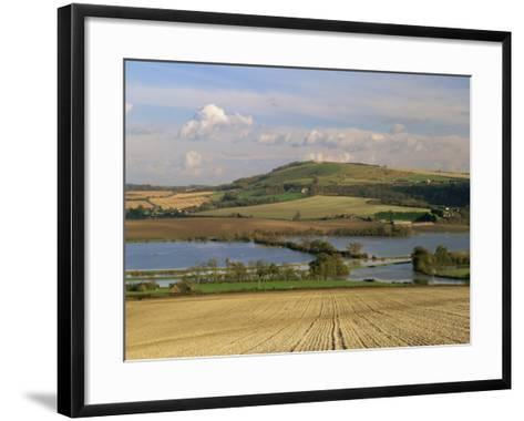 Arun Valley in Food, with South Downs Beyond, Bury, Sussex, England, United Kingdom, Europe-Pearl Bucknall-Framed Art Print