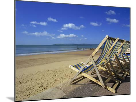 Deckchairs on the Promenade Overlooking Beach, West Cliff, Bournemouth, Dorset, England, UK-Pearl Bucknall-Mounted Photographic Print