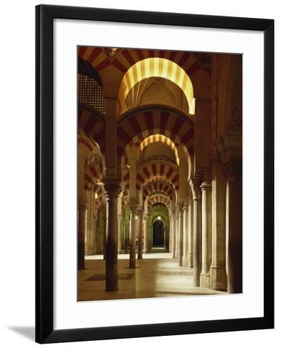 Interior of the Mezquita or Mosque at Cordoba, Cordoba, Andalucia), Spain-Michael Busselle-Framed Art Print