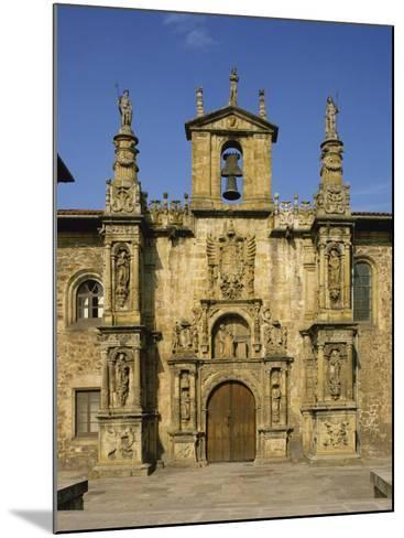Exterior of Plateresque Facade of the University at Onati, Pais Vasco, Basque Area, Spain, Europe-Michael Busselle-Mounted Photographic Print