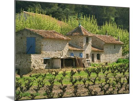 Exterior of a Stone Farmhouse in Vineyard Near Pierrefeu, Var, Provence, France, Europe-Michael Busselle-Mounted Photographic Print