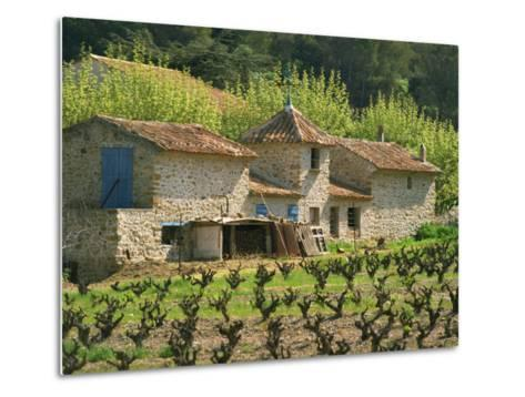 Exterior of a Stone Farmhouse in Vineyard Near Pierrefeu, Var, Provence, France, Europe-Michael Busselle-Metal Print