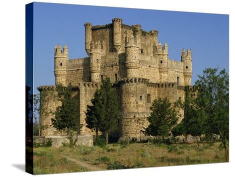 Exterior of the Castle at Guadamur, Toledo, Castile La Mancha, Spain, Europe-Michael Busselle-Stretched Canvas Print