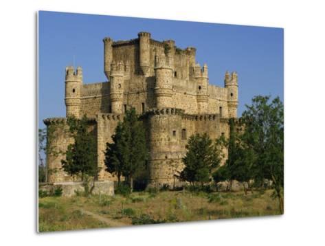 Exterior of the Castle at Guadamur, Toledo, Castile La Mancha, Spain, Europe-Michael Busselle-Metal Print