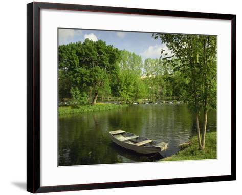 Boat on the River Charente, St. Simeux, Poitou Charentes, France, Europe-Michael Busselle-Framed Art Print