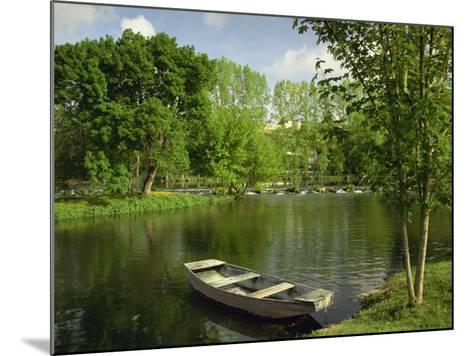Boat on the River Charente, St. Simeux, Poitou Charentes, France, Europe-Michael Busselle-Mounted Photographic Print