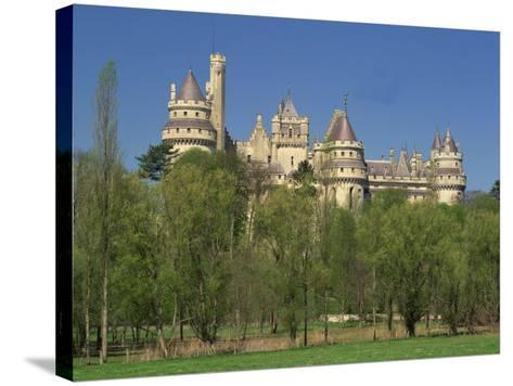 Exterior of the Chateau of Pierrefonds in Aisne, Picardie, France, Europe-Michael Busselle-Stretched Canvas Print