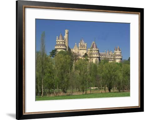 Exterior of the Chateau of Pierrefonds in Aisne, Picardie, France, Europe-Michael Busselle-Framed Art Print