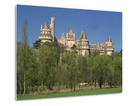 Exterior of the Chateau of Pierrefonds in Aisne, Picardie, France, Europe-Michael Busselle-Metal Print