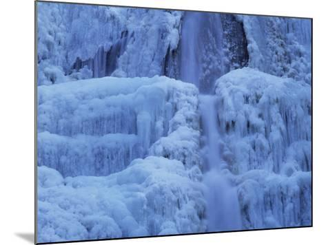 Waterfall Iced over in Winter in Franche-Comte, France, Europe-Michael Busselle-Mounted Photographic Print
