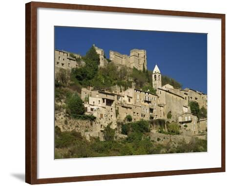 Houses, Church and Old Walls at Montbrun Les Bains in Drome, Rhone-Alpes, France, Europe-Michael Busselle-Framed Art Print